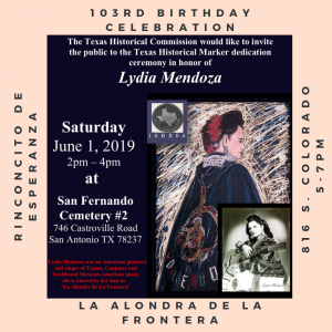 Lydia Mendoza Historical Marker Ceremony