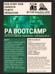 PA Bootcamp
