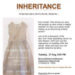 Inheritance: intriguing origins, family secrets, deception....Book Discussion