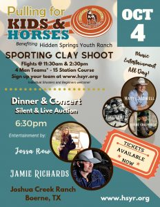 Pulling for Kids and Horses Sporting Clay Shoot Fundraiser