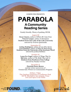 Parabola: A Community Reading Series
