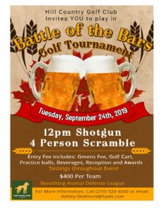"""Battle of the Bars"" Golf Tournament"