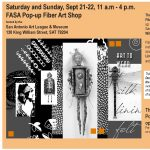 Fiber Art Panel Discussion and Pop-Up Shop