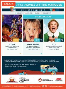 Mission Marquee Family Film Series November Movies