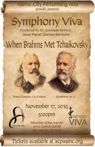 Alamo City Performing Arts Presents; Symphony Viva's Symphonic When Brahms Met Tchaikovsky