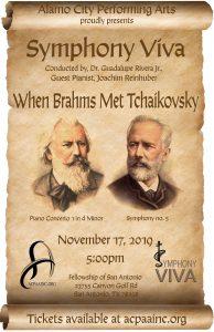 Alamo City Performing Arts Presents; Symphony Viva's Symphonic When Brahms Met Tchaikovsky