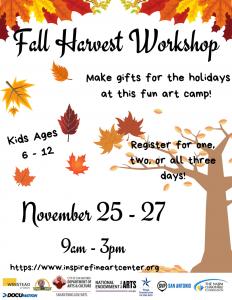 Fall Harvest Workshop (Ages 6-12)