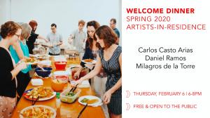 Spring 2020 Artist Welcome Dinner