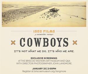"""Cowboys"" with John Langmore"