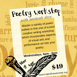 Poetry Workshop with Aminah Dece