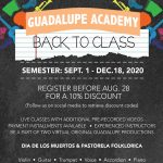 Back to Class: Guadalupe Academy Online