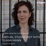 Community Collaboration: Virtual Studio Visit with Elana Mann