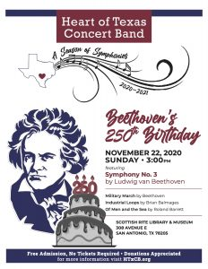 "Heart of Texas Concert Band ""Beethoven's 250th Birthday"""