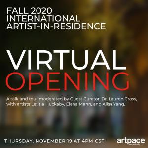 FALL 2020 INTERNATIONAL ARTIST-IN-RESIDENCE VIRTUA...