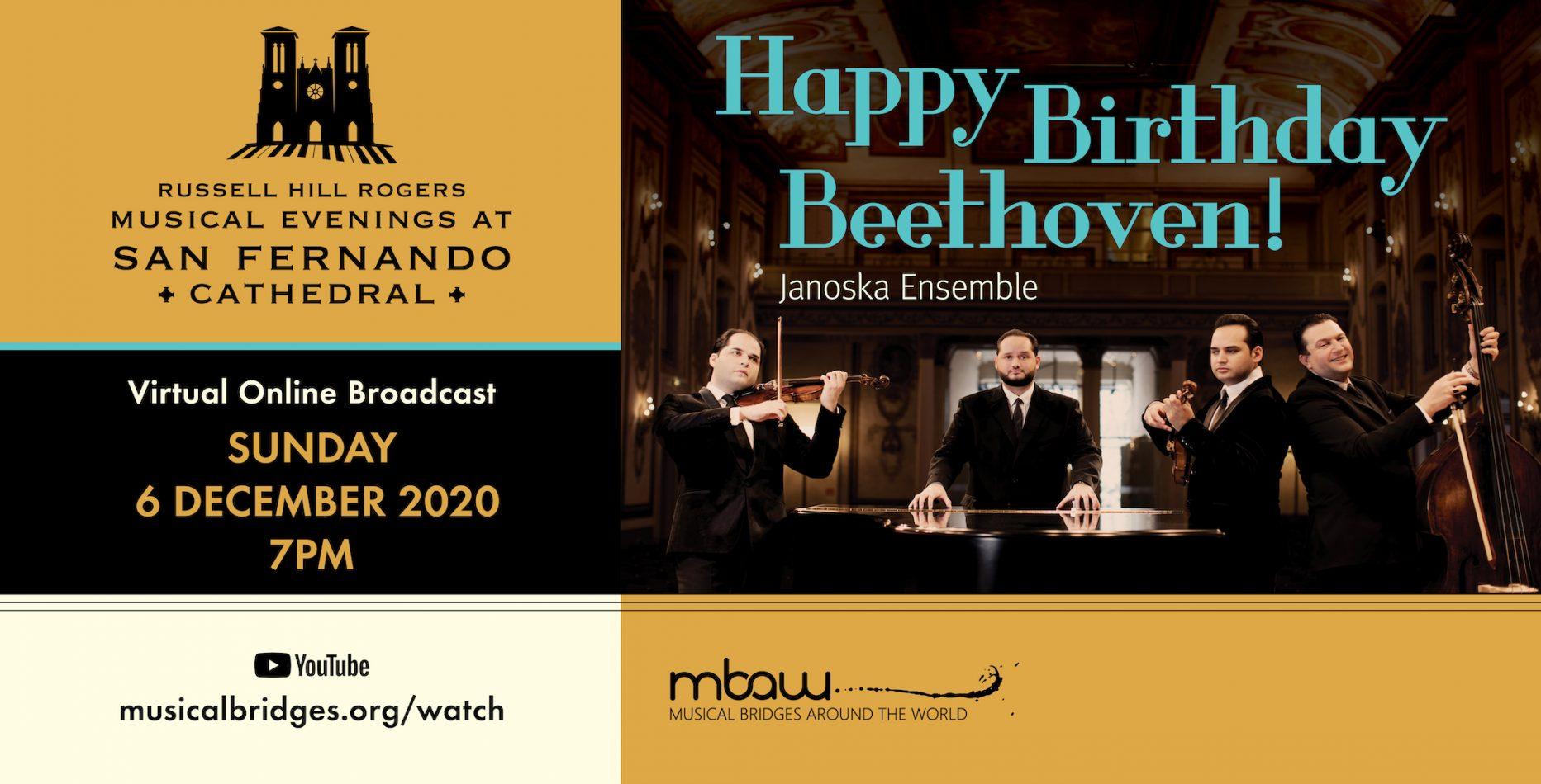 Happy Birthday Beethoven! | Musical Evenings at Sa...