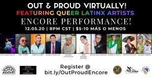 OUT & PROUD Virtually! Encore Performance!