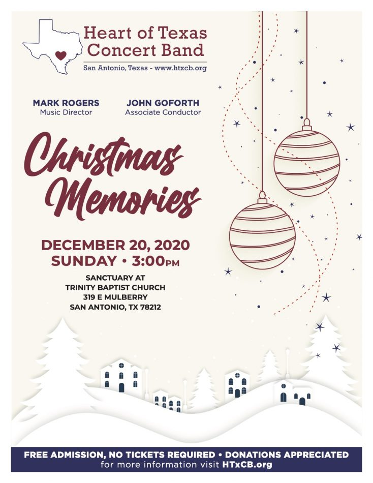 "Heart of Texas Concert Band- ""Christmas Memories..."
