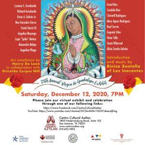 25th annual Celebración a la Virgen de Guadalupe Virtual Exhibit