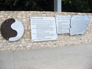 Comanche Lookout Park Trail Markers