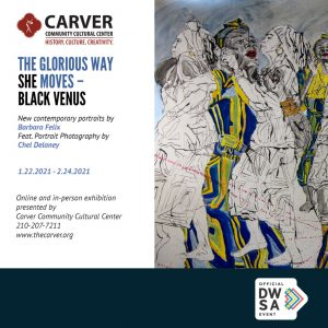 The Glorious Way She Moves -- Black Venus by Barbara Felix: Online and Gallery Portrait Exhibition