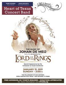 "The Heart of Texas Concert Band- ""The Music of Johan de Meij"""