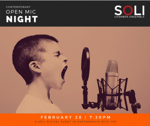 Contemporary Open Mic Night