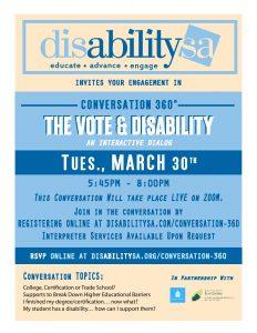 Conversation 360: The Vote & Disability