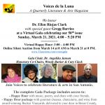 Voices de la Luna 2021 Gala Celebrating 50th Issue and Dr. Ellen Riojas Clark