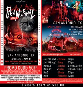 Paranormal Cirque San Antonio, TX