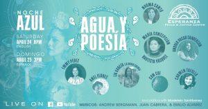 Noche Azul: Agua y Poesía