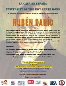 Ruben Dario: Poet, Journalist, Diplomat (Lecture in Spanish)
