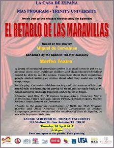 """Theater play """"El Retablo de las Maravillas"""" by Cervantes (IN SPANISH)"""