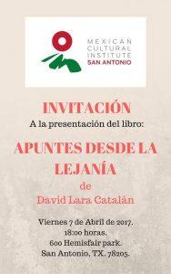 APUNTES DESDE LA LEJANÍA Book Presentation in Spanish