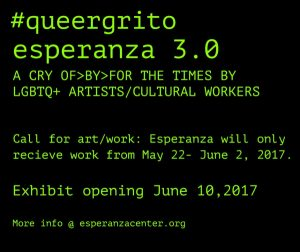 #queergrito Call for Submissions