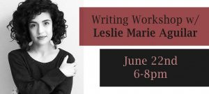 DocuPoems: Exploring the Past and Present through Poetry: A Writing Workshop w/ Leslie Marie Aguilar