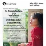 Writer's Lecture Series featuring Laurie Ann Guerrero: On Being Deliberate, Afraid of Nothing