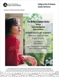 Laurie Ann Guerrero: National Poetry Month Lecture