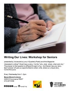 Writing Our Lives Senior Workshop