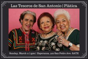 A Plática with Las Tesoros de San Antonio