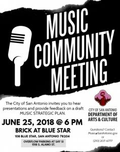 City of San Antonio Music Community Meeting