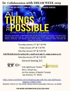 DreamWeek - All Things Are Possible: One Act/Short Plays
