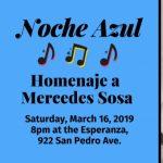 Noche Azul de Esperanza: Homenaje a Mercedes Sosa