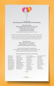 25th Anniversary of the Order of the Cascarón Bot...